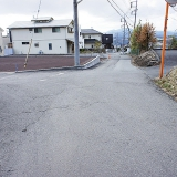 小泉第三期分譲地:西側市道(北側より撮影)