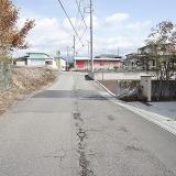 小泉第三期分譲地:西側市道(南側より撮影)