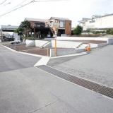 石坂・高林分譲地:北側より接続市道